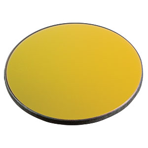 ME2-M01 - Ø2in Protected Gold Mirror, 3.2 mm Thick