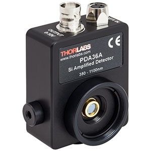 PDA36A - Si Switchable Gain Detector, 350-1100 nm, 10 MHz BW, 13 mm<sup>2</sup>,<br /> 120 VAC