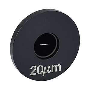 S20R - Ø1in Mounted Slit, 20 ± 2 µm Wide, 3 mm Tall