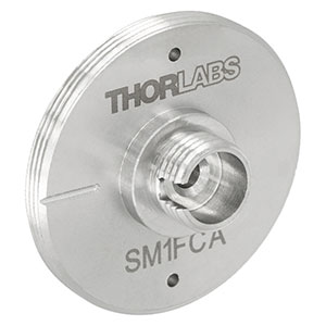 SM1FCA - FC/APC Fiber Adapter Plate with External SM1 (1.035in-40) Threads, Wide Key (2.2 mm)