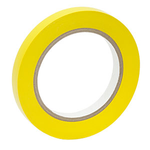 VTY-050 - Yellow Vinyl Tape, 1/2in Wide x 108' Long (12.7 mm x 32.9 m)