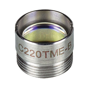 C220TME-B - f = 11.00 mm, NA = 0.25, Mounted Geltech Aspheric Lens, AR Coating: 600-1050 nm