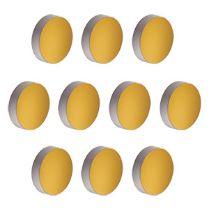 PF10-03-M01-10 - Ø1in Protected Gold Mirror, 10 Pack