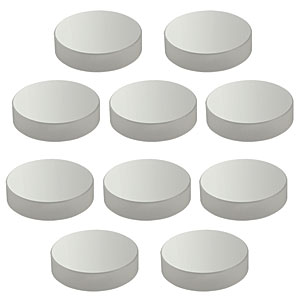 PF20-03-P01-10 - 10 Pack of  Ø2in (Ø50.8 mm) Protected Silver Mirrors