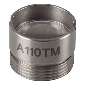 A110TM - f = 6.24 mm, NA = 0.40, Mounted Rochester Aspheric Lens, Uncoated