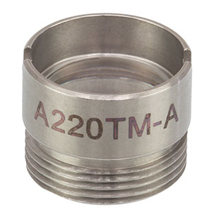 A220TM-A - f = 11.00 mm, NA = 0.26, Mounted Aspheric Lens, ARC: 350 - 700 nm
