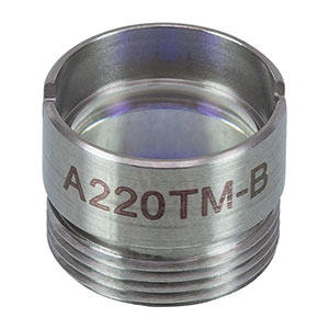 A220TM-B - f = 11.0 mm, NA = 0.26, Mounted Rochester Aspheric Lens, AR: 650-1050 nm