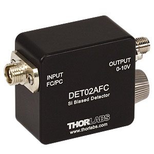 DET02AFC - 1 GHz Si FC/PC-Coupled Photodetector, 400 - 1100 nm, 8-32 Tap