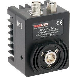 PDA10DT-EC - InGaAs Amplified Detector with TEC, 0.9 - 2.57 µm, DC-Coupled Amplifier, Ø1 mm, 100 - 240 VAC