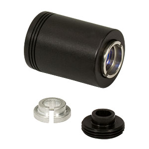 LT230260P-B - Focusing Tube with Optic Pair for Ø5.6 and Ø9 mm Laser Diodes, f = 4.51 mm, Laser Side NA = 0.55, AR Coated: 650 - 1050 nm