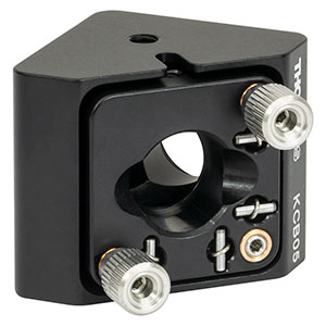 KCB05 - Right-Angle Kinematic Mirror Mount, 16 mm Cage System and SM05 Compatible, 4-40 and M3 Mounting Holes