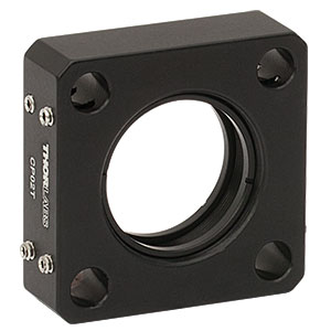 CP02T - SM1-Threaded 30 mm Cage Plate, 0.50in Thick, 2 Retaining Rings, 8-32 Tap