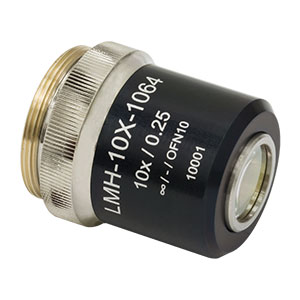 LMH-10X-1064 - High-Power MicroSpot Focusing Objective, 10X, 980 - 1130 nm, NA =  0.25