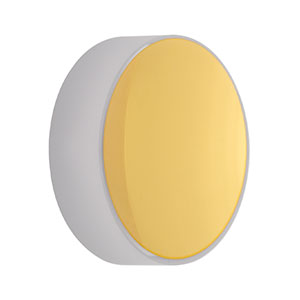 CM254-025-M01 - Ø1in Gold-Coated Concave Mirror, f = 25.0 mm