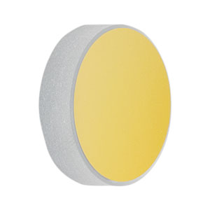 CM254-100-M01 - Ø1in Gold-Coated Concave Mirror, f = 100.0 mm