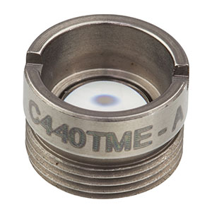 C440TME-A - f = 2.95 mm, Mounted Geltech Aspheric Lens, AR: 400-600 nm