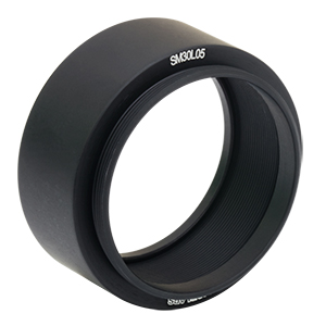 SM30L05 - SM30 Lens Tube, 1/2in Thread Depth, One Retaining Ring Included