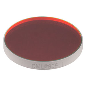 "DMLP605 - Ø1"" Longpass Dichroic Mirror, 605 nm Cut-On"