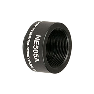 NE505A - Ø1/2in Absorptive ND Filter, SM05-Threaded Mount, Optical Density: 0.5