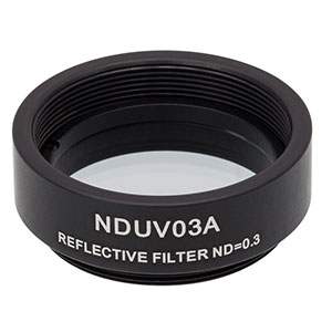 NDUV03A - SM1-Threaded Mount, Ø25 mm UVFS Reflective ND Filter, OD: 0.3