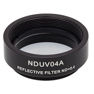 NDUV04A - SM1-Threaded Mount, Ø25 mm UVFS Reflective ND Filter, OD: 0.4