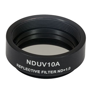 NDUV10A - SM1-Threaded Mount, Ø25 mm UVFS Reflective ND Filter, OD: 1.0