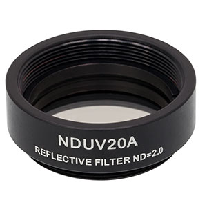NDUV20A - SM1-Threaded Mount, Ø25 mm UVFS Reflective ND Filter, OD: 2.0