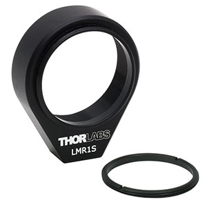LMR1S - Ø1in Lens Mount with Internal and External SM1 Threads, 8-32 Tap