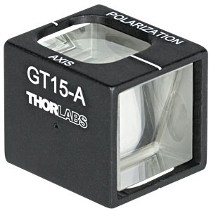 GT15-A - Glan-Taylor Polarizer, 15 mm Clear Aperture, Coating: 350* - 700 nm