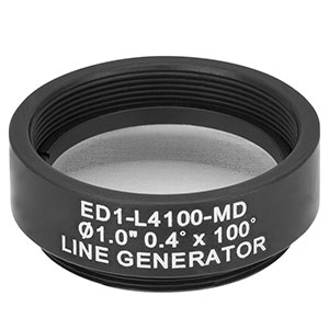 ED1-L4100-MD - SM1-Threaded Mount, Ø1in 0.4° x 100° Line Engineered Diffuser