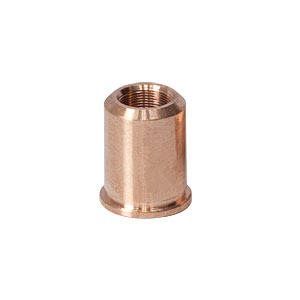 F19SSN1P - Threaded Bushing, Phosphor Bronze, 3/16in-100, 0.40in Long