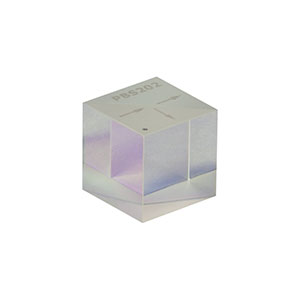 PBS202 - 20 mm Polarizing Beamsplitter Cube, 620 - 1000 nm