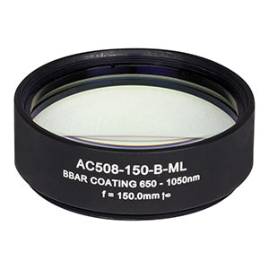 AC508-150-B-ML - f=150 mm, Ø2in Achromatic Doublet, SM2-Threaded Mount, ARC: 650-1050 nm
