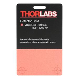 thorlabs vrc visir detector card   nm   nm