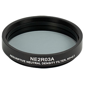 NE2R03A - Ø2in Absorptive ND Filter, SM2-Threaded Mount, Optical Density: 0.3