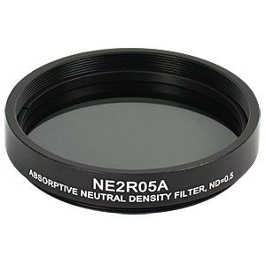 NE2R05A - Ø2in Absorptive ND Filter, SM2-Threaded Mount, Optical Density: 0.5