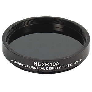 NE2R10A - Ø2in Absorptive ND Filter, SM2-Threaded Mount, Optical Density: 1.0