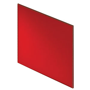 FGL610H - 6in Square RG610 Colored Glass Filter, 610 nm Longpass