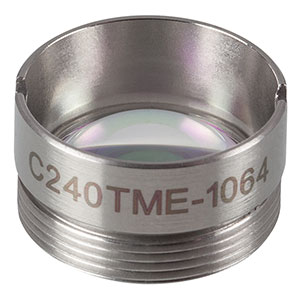 C240TME-1064 - f = 8.00 mm, NA = 0.50, Mounted Geltech Aspheric Lens, AR: 1064 nm