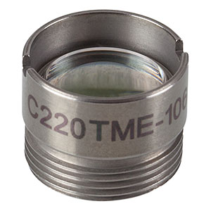 C220TME-1064 - f = 11.00 mm, NA = 0.25, Mounted Geltech Aspheric Lens, AR: 1064 nm