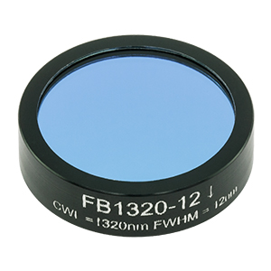 FB1320-12 - Ø1in Bandpass Filter, CWL = 1320 ± 2 nm, FWHM = 12 ± 2.4 nm