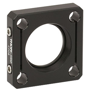 CP08 - SM1-Threaded 30 mm Cage Plate with Flexure Clamping, 1 Retaining Ring, 8-32 Tap