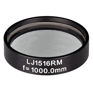 LJ1516RM - f = 1000.0 mm, Ø1in, N-BK7 Mounted Plano-Convex Round Cyl Lens