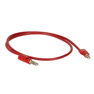 T13242 - Stacking Banana Patch Cord; 24in (0.62 m) Long Red