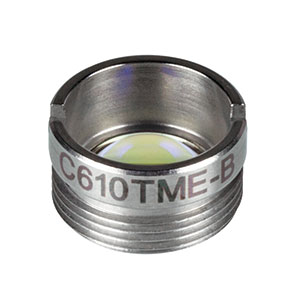C610TME-B - f = 4.0 mm, NA = 0.6, Mounted Geltech Aspheric Lens, AR: 600 - 1050 nm