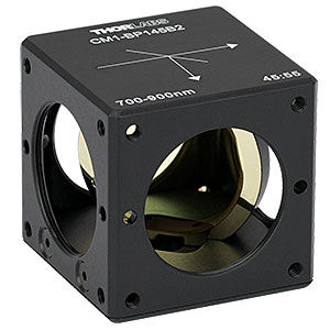 CM1-BP145B2 - 30 mm Cage Cube-Mounted Pellicle Beamsplitter, 45:55 (R:T), 700 - 900 nm