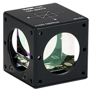 CM1-BS015 - Cube-Mounted Non-Polarizing Beamsplitter, 1100 - 1600 nm