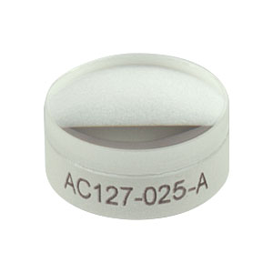 AC127-025-A - f = 25.0 mm, Ø1/2in Achromatic Doublet, ARC: 400 - 700 nm
