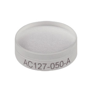 AC127-050-A - f = 50.0 mm, Ø1/2in Achromatic Doublet, ARC: 400 - 700 nm