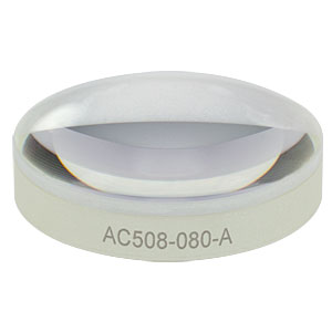 AC508-080-A - f = 80 mm, Ø2in Achromatic Doublet, ARC: 400 - 700 nm